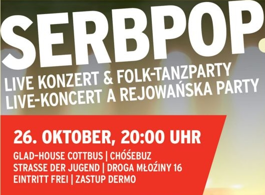 Workshop, Live-Konzert & Folk-Tanzparty: Einladung zu SerbPop in Cottbus/Chóśebuz
